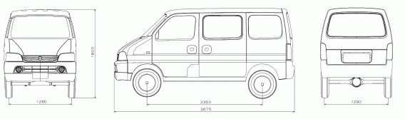 Maruti Suzuki Eeco Dimensions in mm