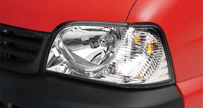 Clear lens headlamps and tail lamps in Maruti Eeco