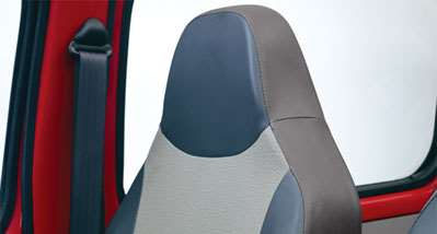 Integrated head rests for driver seat and side companion