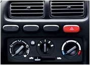 Alto K10 Car Interiors - AC with Heater