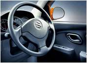 Alto K10 Car Interiors - 3 spoke steering wheel