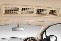 Ertiga interior - AC for second row seats