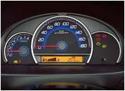 Stingray Interior Pics - Blue Themed Instrument Cluster With MID