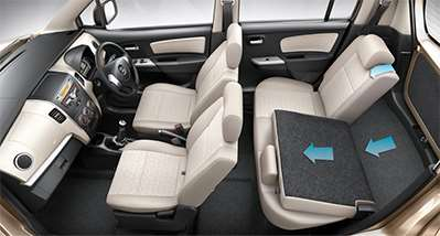 WagonR Interiors Pics – Foldable Rear Seats