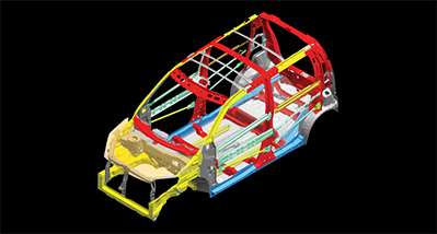 WagonR Energy Absorbing Body Structure