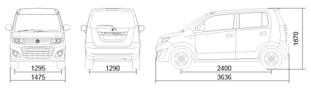 Stingray Car Dimensions in mm