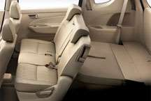 Maruti Ertiga - 3rd row seats folded fully flat