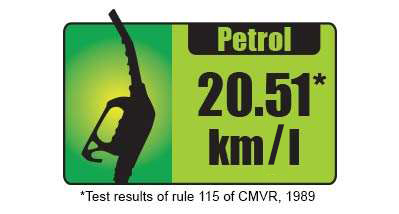 Great Mileage Of 20.51* Kmpl in Petrol