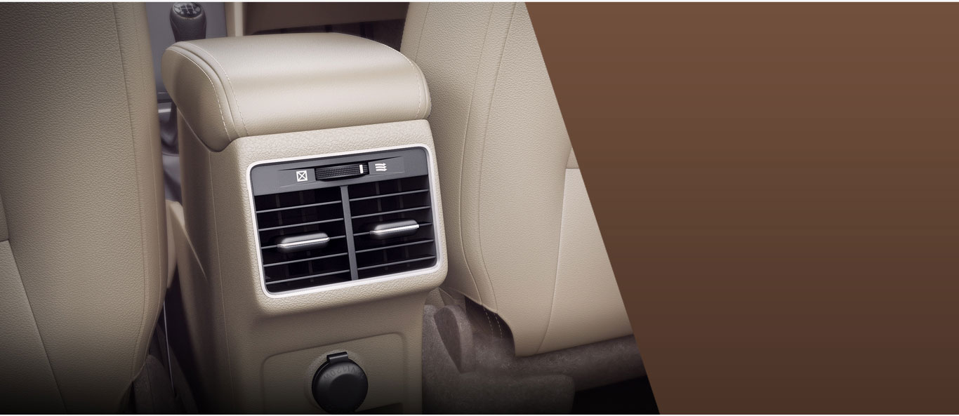 Ciaz - Rear Ac Vents with 12 V Charging Points