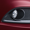 Front fog lamps with bezel ornament- chrome