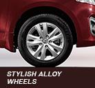 stylish alloy wheels