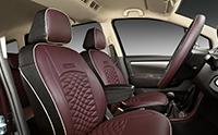 Ertiga LE premium seat covers and front seat armrest
