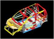 Energy absorbing car structure