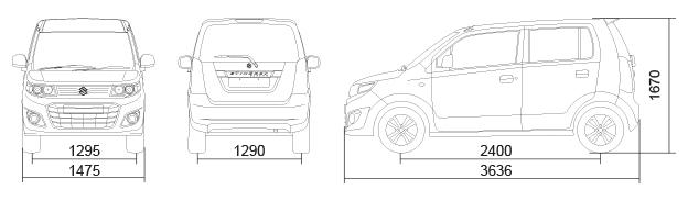 Stingray Car Dimensions in mm