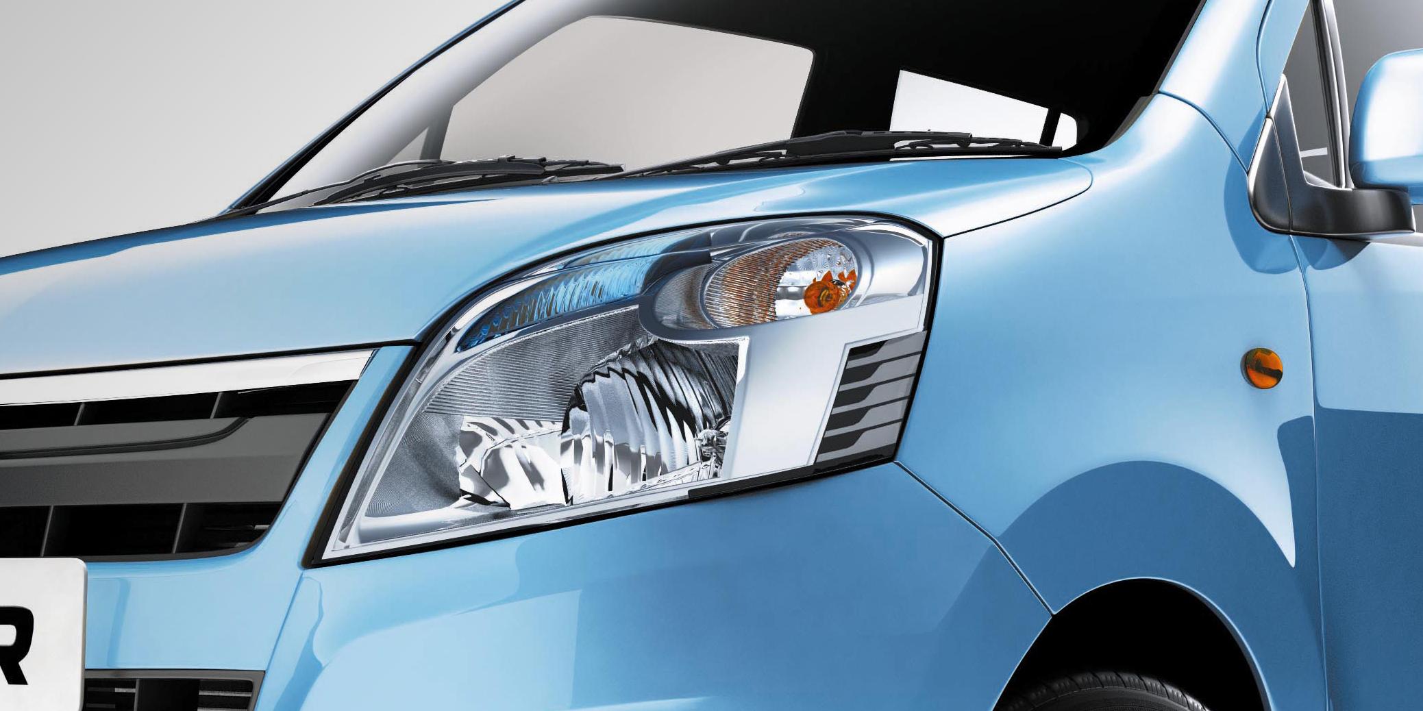 New WagonR Design – Headlamps with unique blue lens