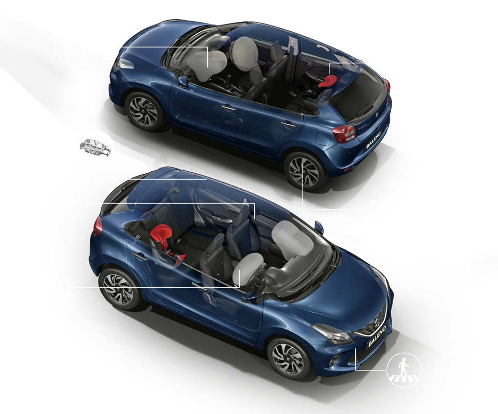 New Baleno with Advance Safety Features - Mobile