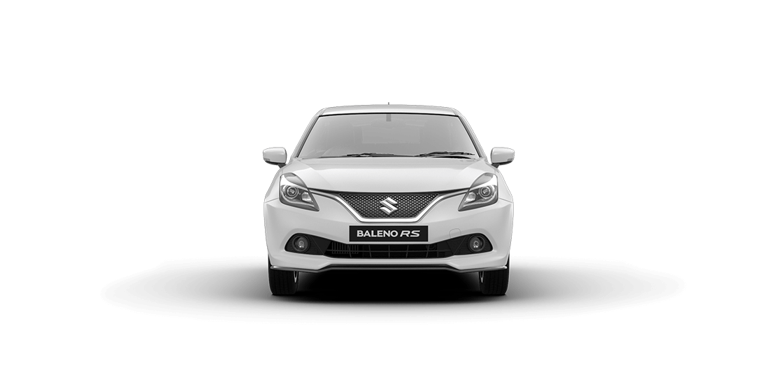 Baleno RS Arctic White Car Front View