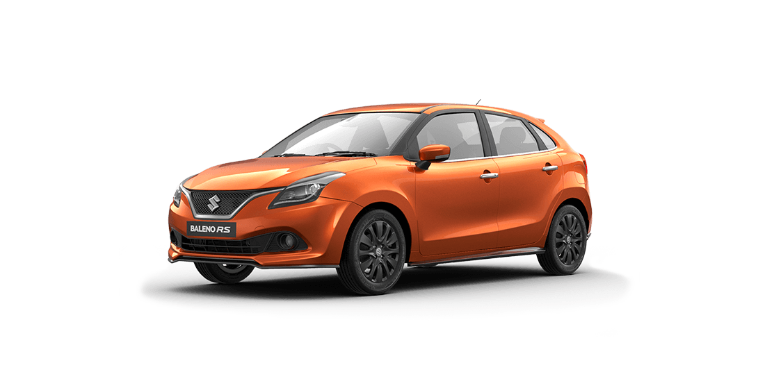 Baleno Orange car views