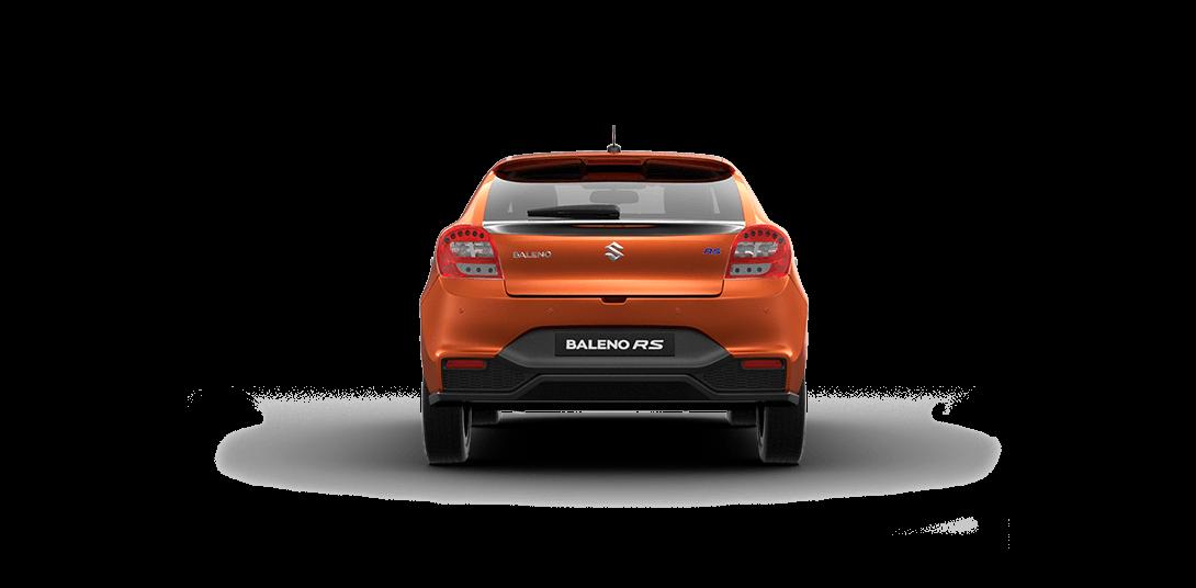Baleno RS Orange Car Back  View