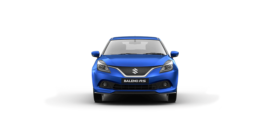 BalenoRs Urban Blue Car Front View