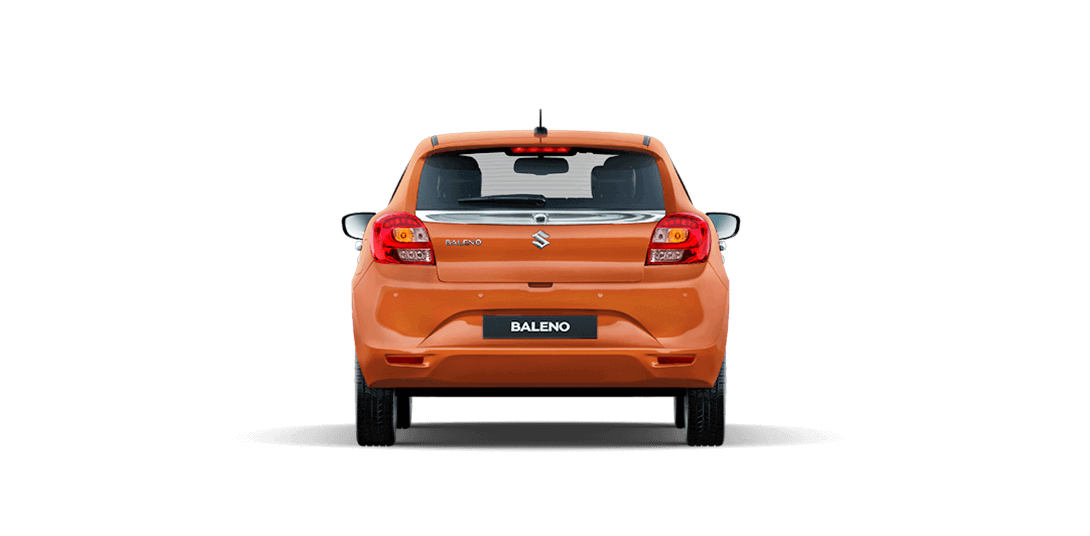 Baleno Orange car side views