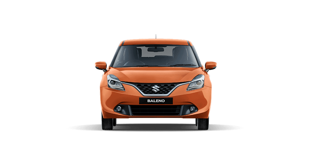 Baleno Orange car front views