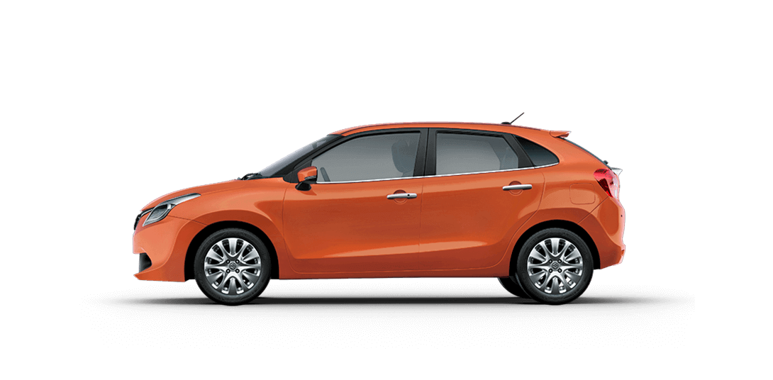 Baleno Orange cars back views