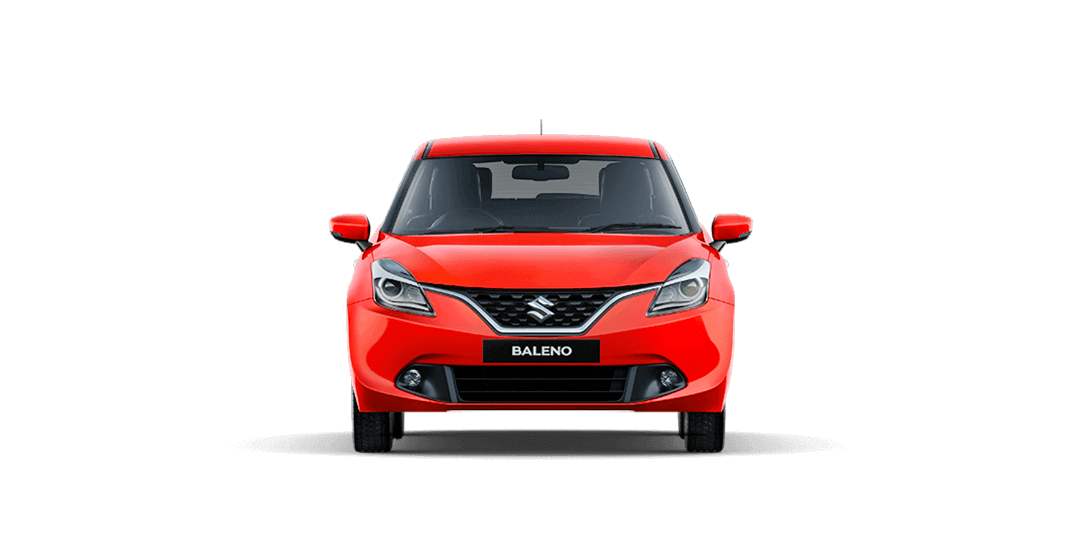 Baleno Red car front views