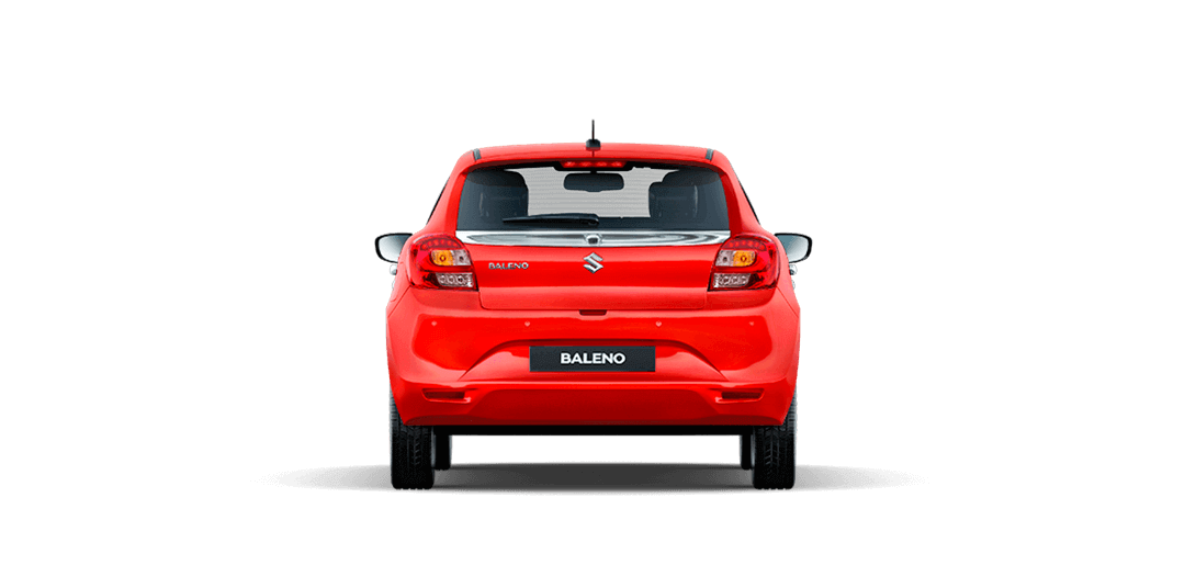 Baleno Red cars back views