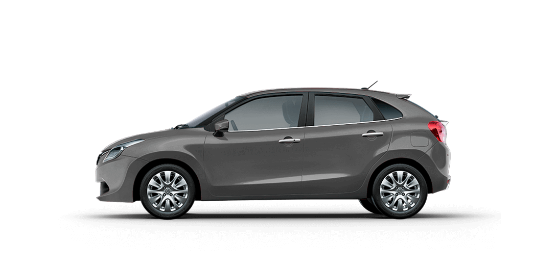 Baleno Gray car view