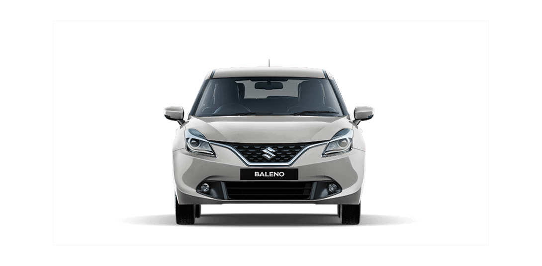 Baleno Silver car front views
