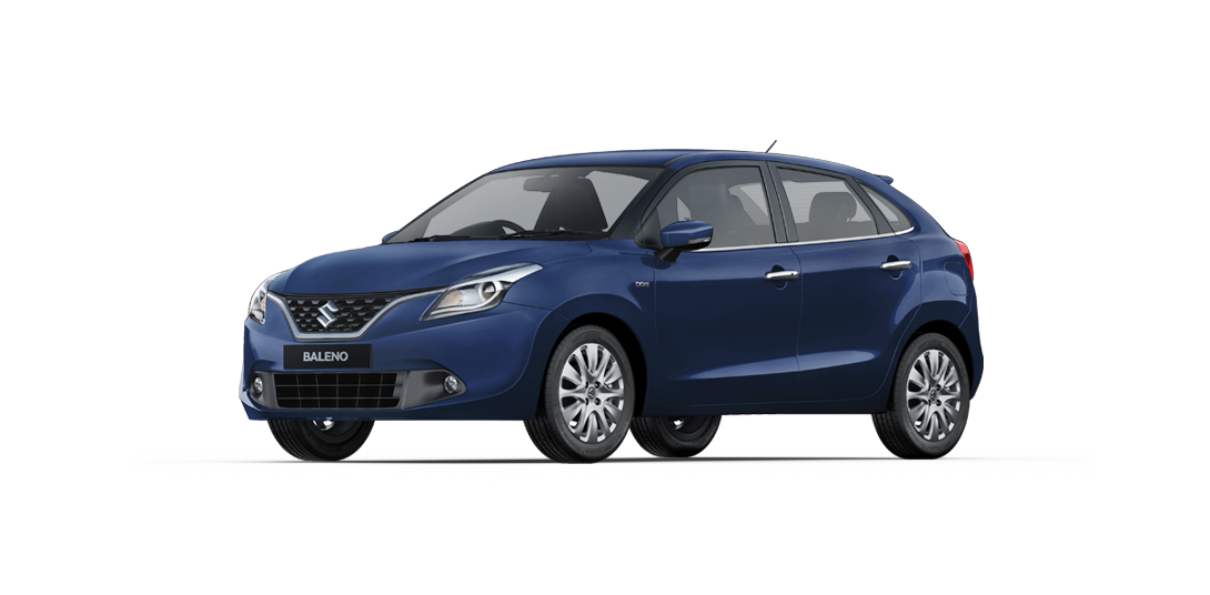 Baleno Blue car views