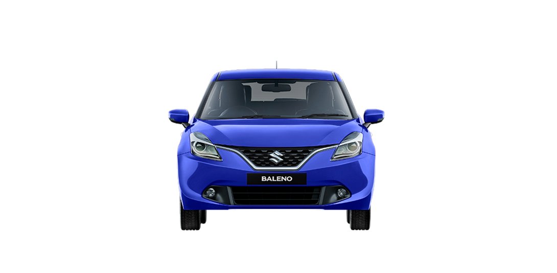 Baleno Blue car front views