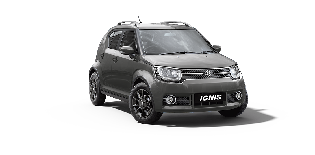Ignis Car in Glistening Grey Color