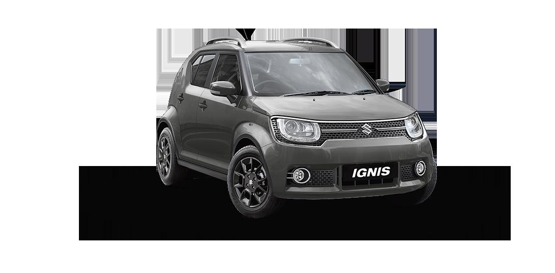 Ignis Car in Glistening Grey Color
