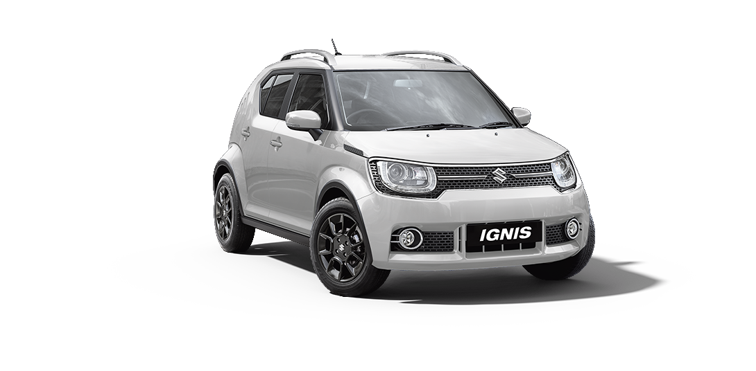 Ignis Car in Pearl Arctic White Color