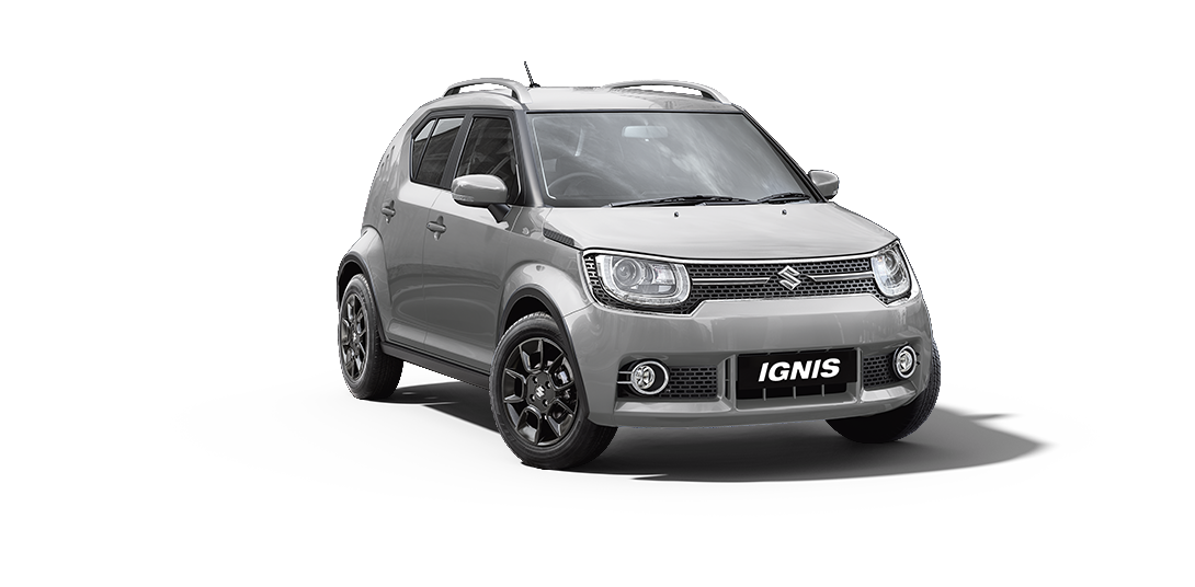 Ignis Car in Silky Silver Color