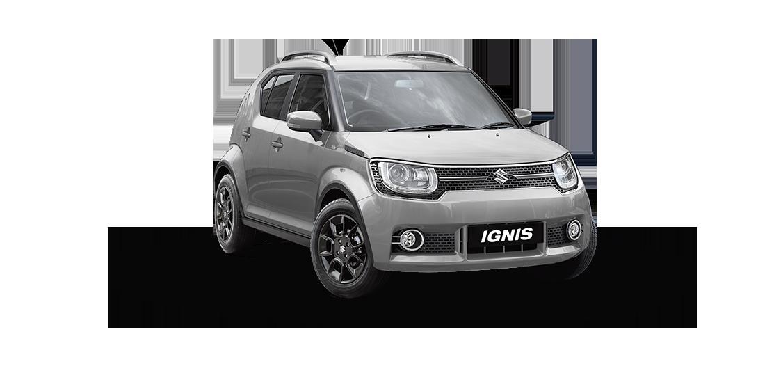 Ignis Car in Silky Silver Color