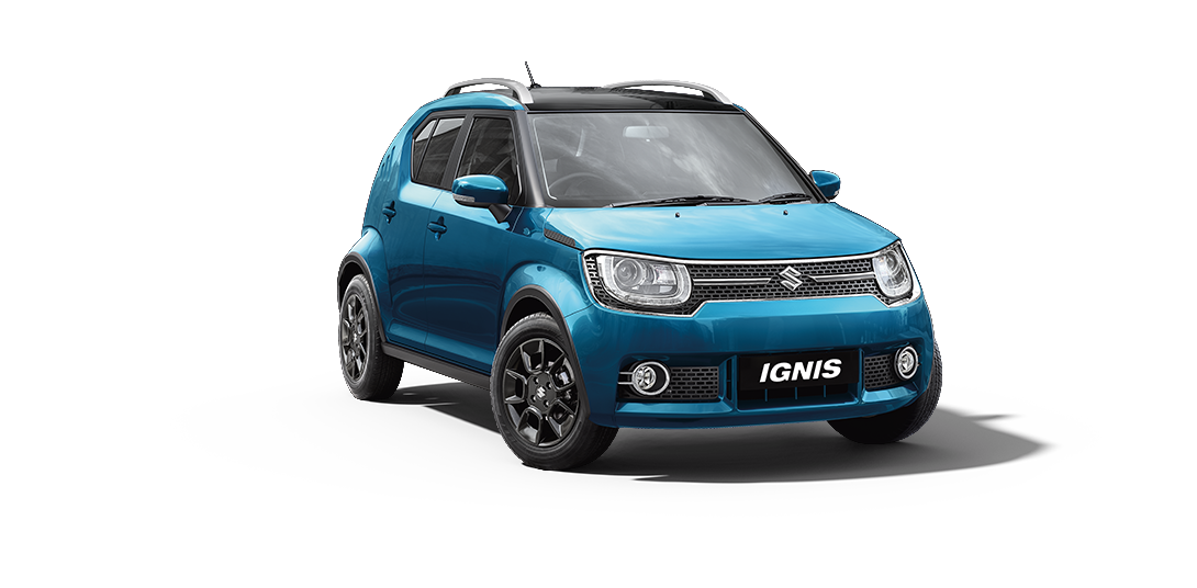 Ignis Car in Blue W-Midnight Black Color
