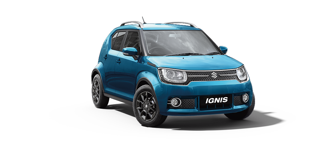 Ignis Car in Tinsel Blue Color