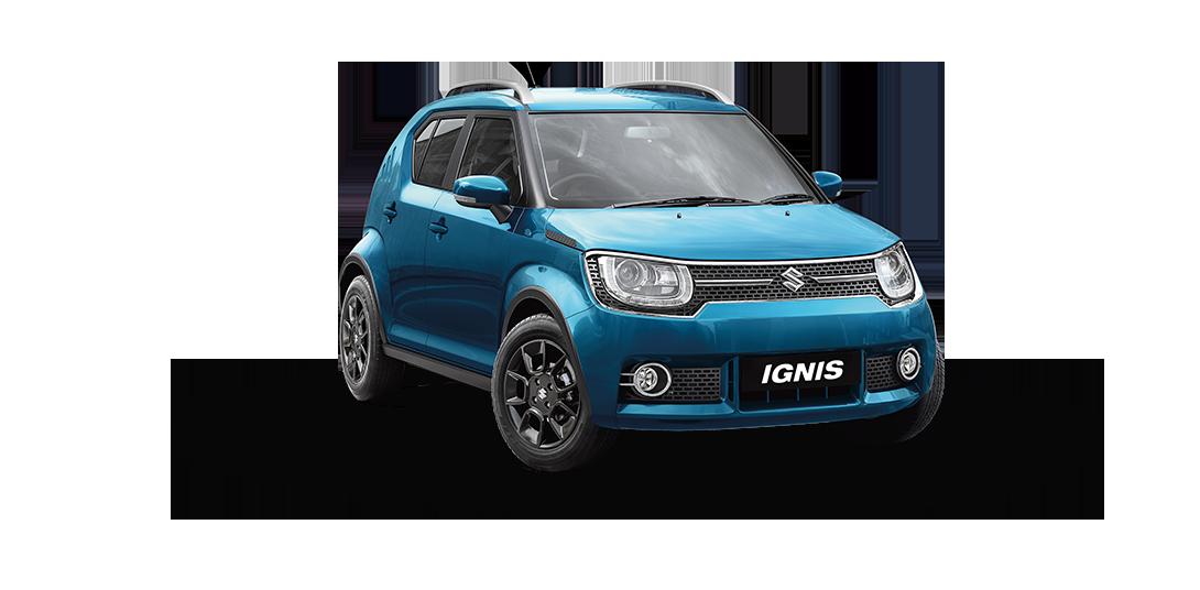 Ignis Car in Tinsel Blue Color