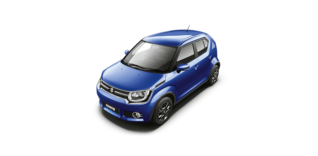 Ignis Car in Urban Blue Color