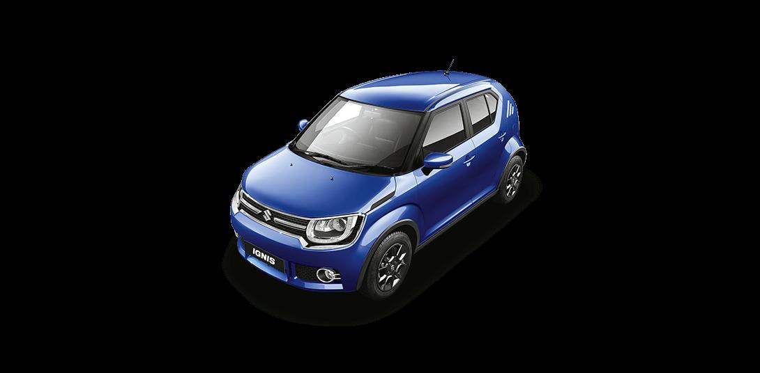 Ignis Car in Urban Blue Color